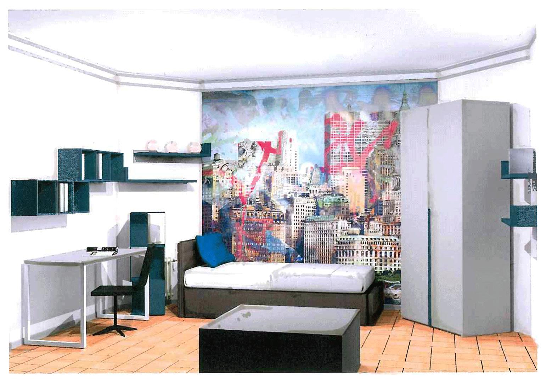 tete de lit chambre ado tete de lit papier peint chambre ado deco chambre diy pour fabriquer. Black Bedroom Furniture Sets. Home Design Ideas